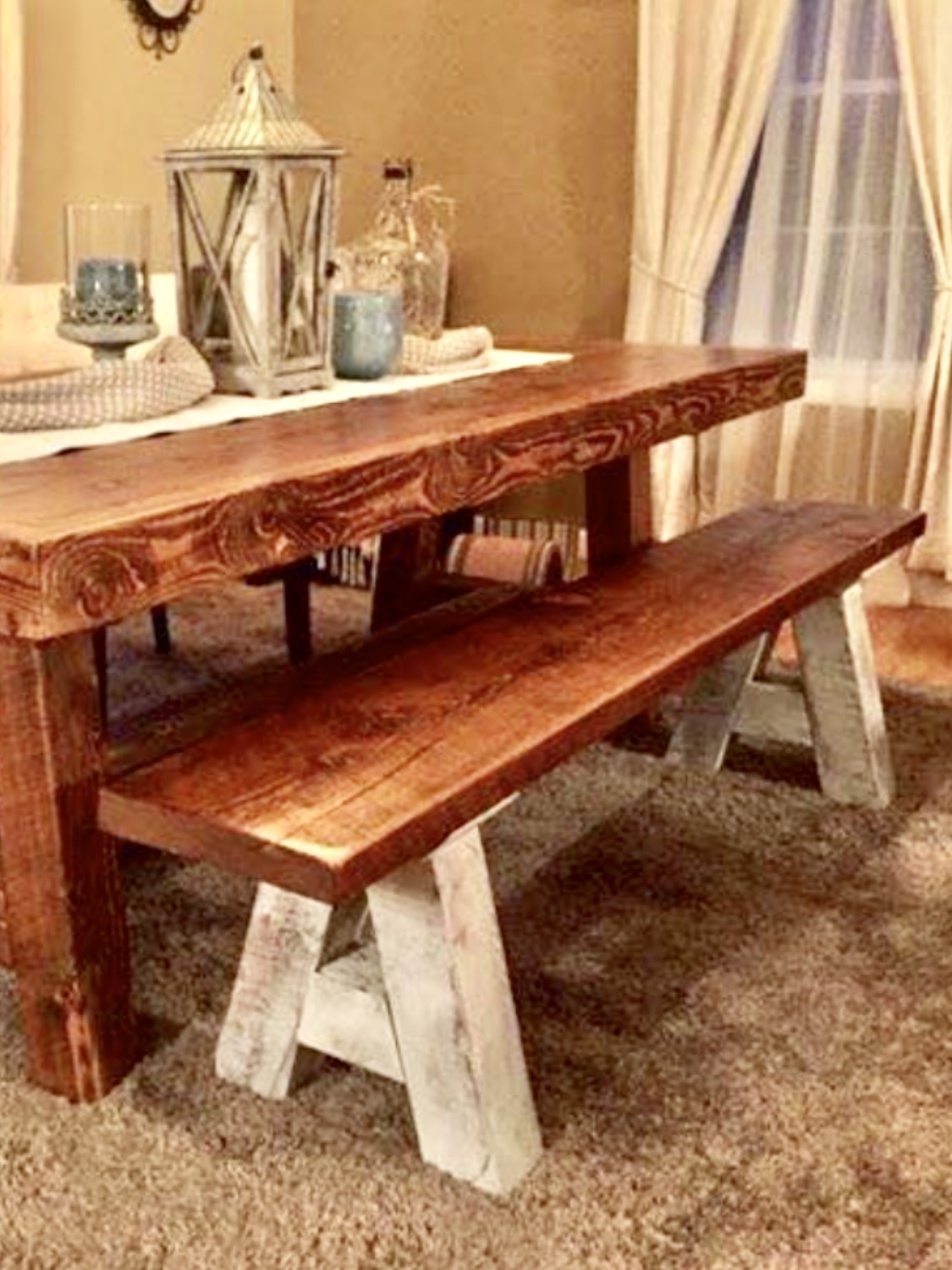 Chic And Antique Farm Bench
