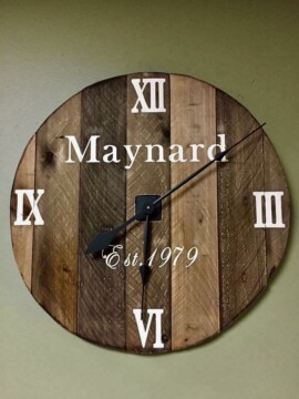 Rustic Custom Clock